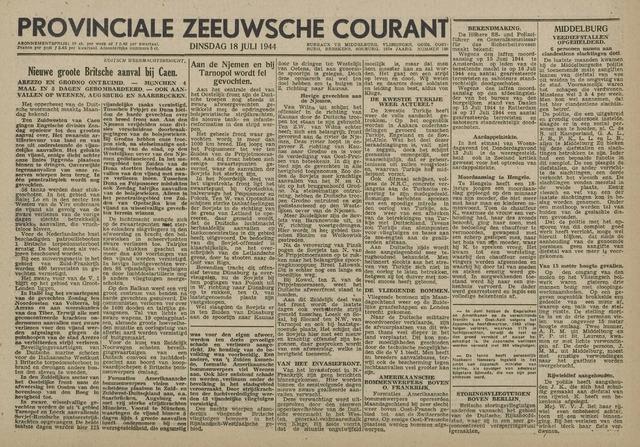 Provinciale Zeeuwse Courant 1944-07-18