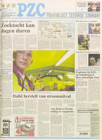 Provinciale Zeeuwse Courant 2003-09-29