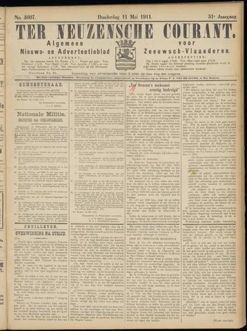 Ter Neuzensche Courant. Algemeen Nieuws- en Advertentieblad voor Zeeuwsch-Vlaanderen / Neuzensche Courant ... (idem) / (Algemeen) nieuws en advertentieblad voor Zeeuwsch-Vlaanderen 1911-05-11