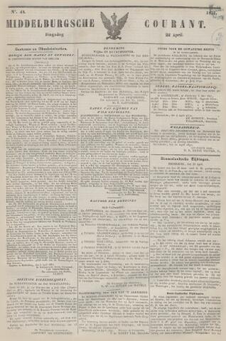 Middelburgsche Courant 1851-04-22