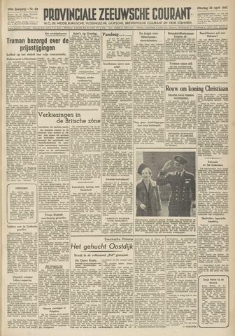 Provinciale Zeeuwse Courant 1947-04-22