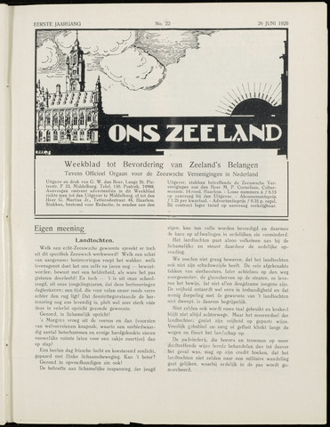 Ons Zeeland / Zeeuwsche editie 1926-06-26