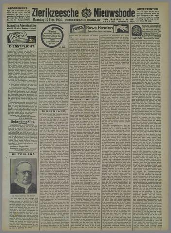 Zierikzeesche Nieuwsbode 1930-02-10