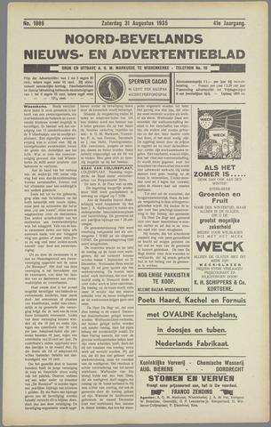 Noord-Bevelands Nieuws- en advertentieblad 1935-08-31
