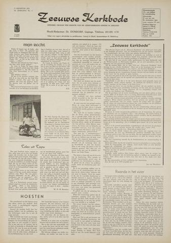 Zeeuwsche kerkbode, weekblad gewijd aan de belangen der gereformeerde kerken/ Zeeuwsch kerkblad 1970-08-13