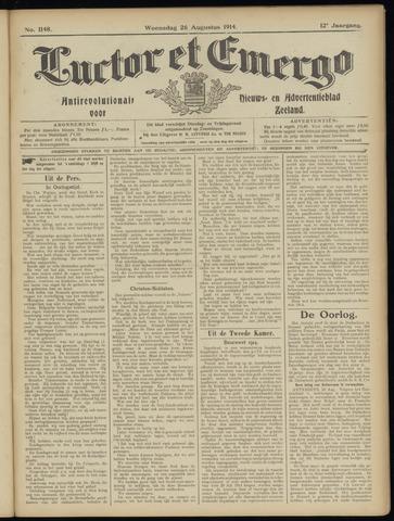 Luctor et Emergo. Antirevolutionair nieuws- en advertentieblad voor Zeeland / Zeeuwsch-Vlaanderen. Orgaan ter verspreiding van de christelijke beginselen in Zeeuwsch-Vlaanderen 1914-08-26