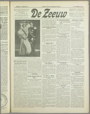 De Zeeuw. Christelijk-historisch nieuwsblad voor Zeeland 1937-08-11