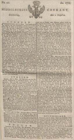 Middelburgsche Courant 1771-08-01