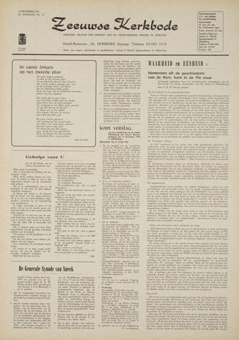 Zeeuwsche kerkbode, weekblad gewijd aan de belangen der gereformeerde kerken/ Zeeuwsch kerkblad 1970-12-10