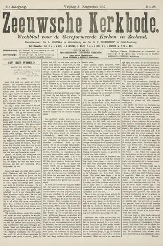 Zeeuwsche kerkbode, weekblad gewijd aan de belangen der gereformeerde kerken/ Zeeuwsch kerkblad 1917-08-31