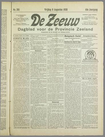 De Zeeuw. Christelijk-historisch nieuwsblad voor Zeeland 1930-08-08