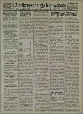 Zierikzeesche Nieuwsbode 1930-12-03