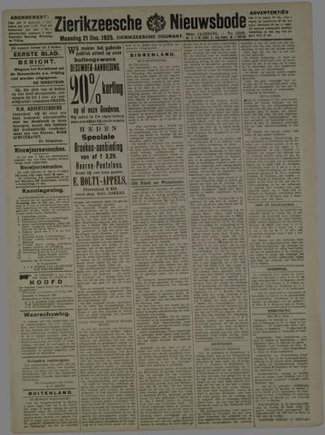 Zierikzeesche Nieuwsbode 1925-12-21