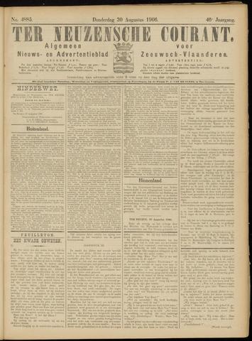 Ter Neuzensche Courant. Algemeen Nieuws- en Advertentieblad voor Zeeuwsch-Vlaanderen / Neuzensche Courant ... (idem) / (Algemeen) nieuws en advertentieblad voor Zeeuwsch-Vlaanderen 1906-08-30