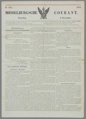 Middelburgsche Courant 1854-12-02