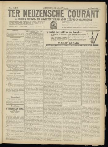 Ter Neuzensche Courant. Algemeen Nieuws- en Advertentieblad voor Zeeuwsch-Vlaanderen / Neuzensche Courant ... (idem) / (Algemeen) nieuws en advertentieblad voor Zeeuwsch-Vlaanderen 1940-03-13
