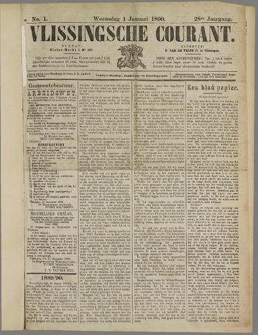 Vlissingse Courant 1890
