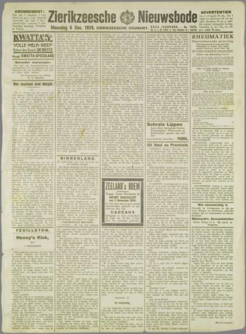 Zierikzeesche Nieuwsbode 1926-12-06