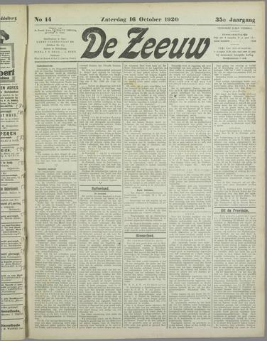 De Zeeuw. Christelijk-historisch nieuwsblad voor Zeeland 1920-10-16
