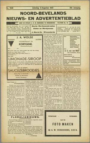 Noord-Bevelands Nieuws- en advertentieblad 1933-08-12