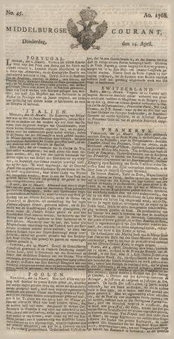 Middelburgsche Courant 1768-04-14