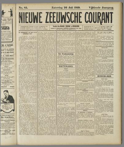 Nieuwe Zeeuwsche Courant 1919-07-26