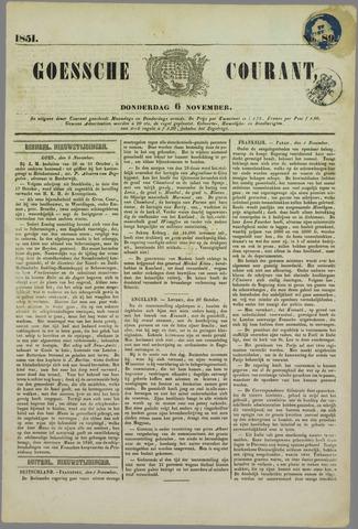 Goessche Courant 1851-11-06