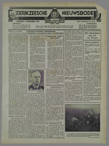 Zierikzeesche Nieuwsbode 1941-11-02