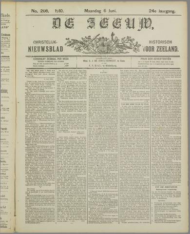 De Zeeuw. Christelijk-historisch nieuwsblad voor Zeeland 1910-06-06