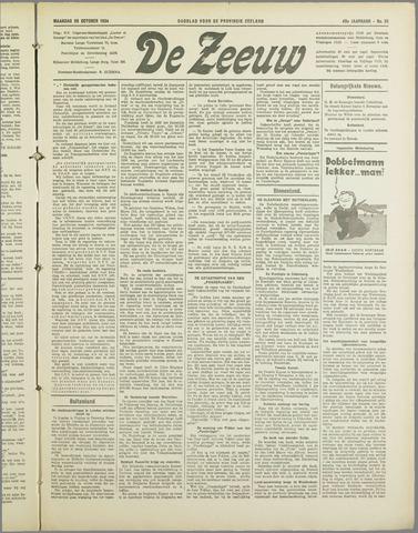 De Zeeuw. Christelijk-historisch nieuwsblad voor Zeeland 1934-10-29