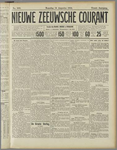 Nieuwe Zeeuwsche Courant 1914-08-24