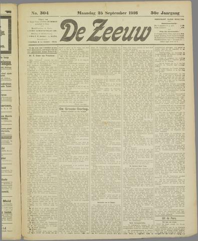 De Zeeuw. Christelijk-historisch nieuwsblad voor Zeeland 1916-09-25