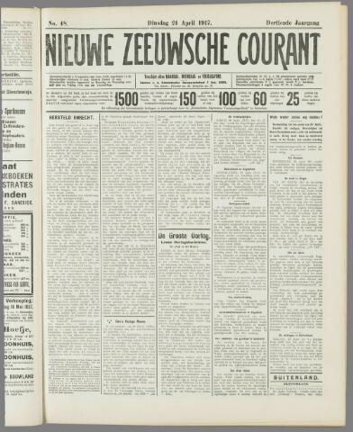 Nieuwe Zeeuwsche Courant 1917-04-24