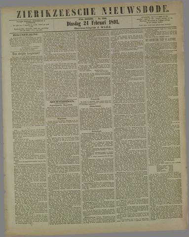 Zierikzeesche Nieuwsbode 1891-02-24