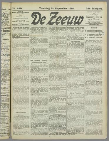 De Zeeuw. Christelijk-historisch nieuwsblad voor Zeeland 1918-09-21
