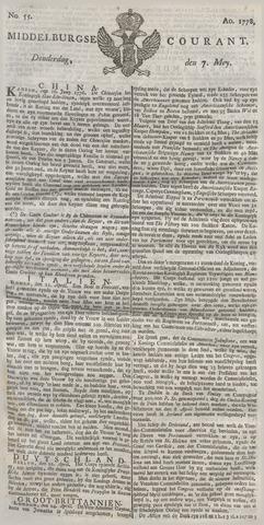 Middelburgsche Courant 1778-05-07