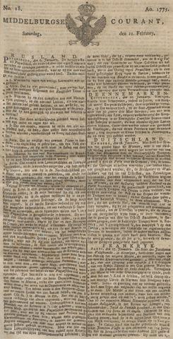 Middelburgsche Courant 1775-02-11