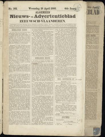 Ter Neuzensche Courant. Algemeen Nieuws- en Advertentieblad voor Zeeuwsch-Vlaanderen / Neuzensche Courant ... (idem) / (Algemeen) nieuws en advertentieblad voor Zeeuwsch-Vlaanderen 1866-04-18