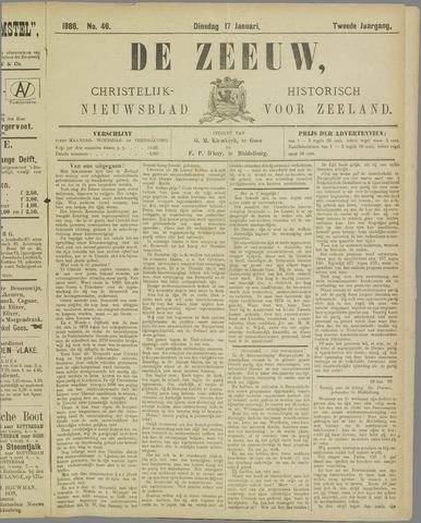 De Zeeuw. Christelijk-historisch nieuwsblad voor Zeeland 1888-01-17