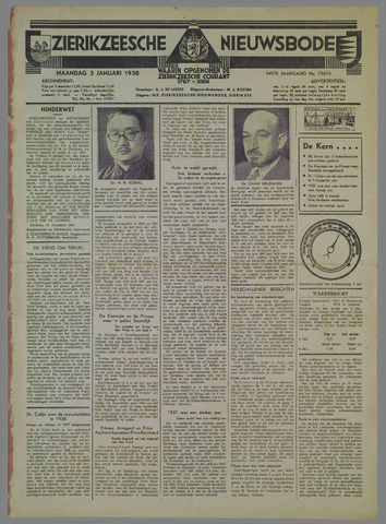 Zierikzeesche Nieuwsbode 1938