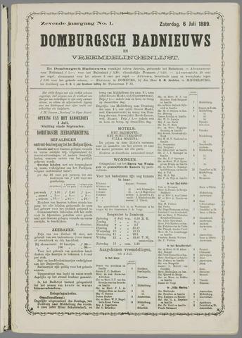Domburgsch Badnieuws 1889
