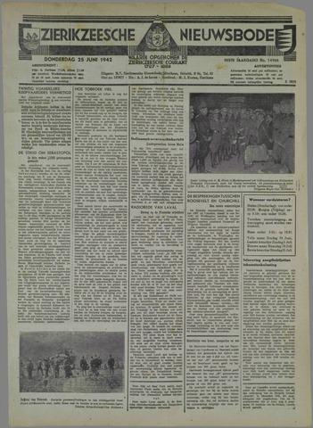 Zierikzeesche Nieuwsbode 1942-06-25