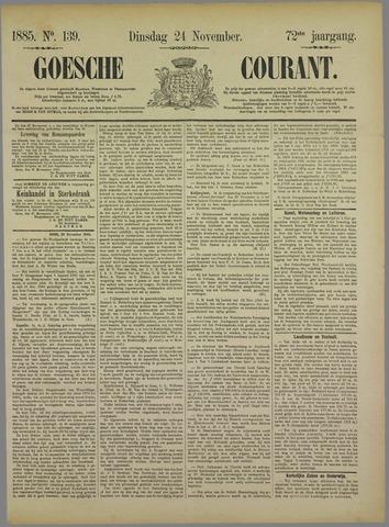 Goessche Courant 1885-11-24