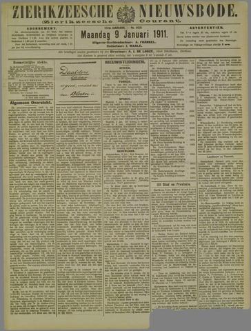 Zierikzeesche Nieuwsbode 1911-01-09