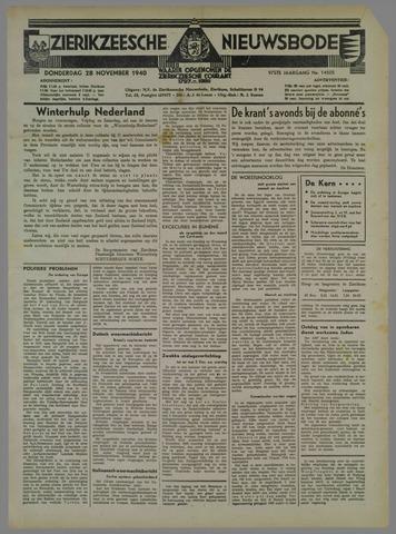 Zierikzeesche Nieuwsbode 1940-11-28