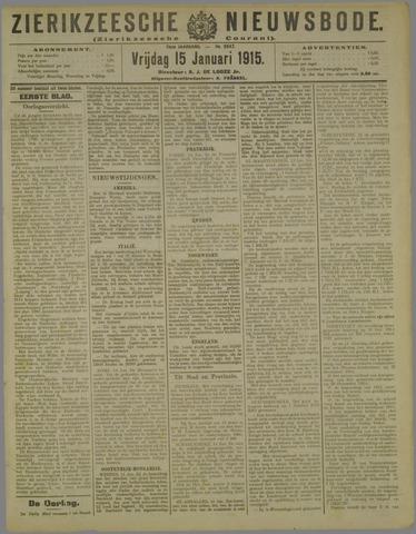 Zierikzeesche Nieuwsbode 1915-01-15