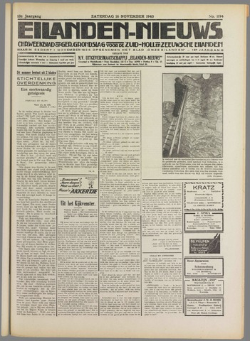 Eilanden-nieuws. Christelijk streekblad op gereformeerde grondslag 1940-11-16