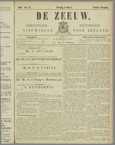 De Zeeuw. Christelijk-historisch nieuwsblad voor Zeeland 1888-03-06