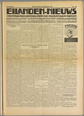 Eilanden-nieuws. Christelijk streekblad op gereformeerde grondslag 1936-02-26