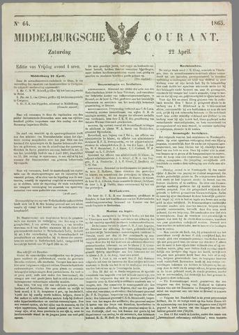 Middelburgsche Courant 1865-04-22